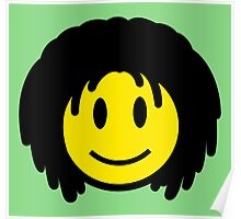 Rasta Smiley Poster