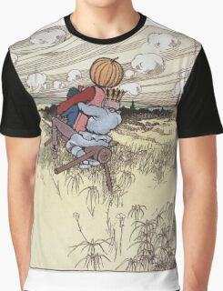John R. Neill - The Scarecrow And Jack Pumpkinhead Riding The Saw-Horse. Child portrait: cute baby, kid, children, pretty angel, kids, lovely family, boys and girls, boy and girl, mom, childhood Graphic T-Shirt