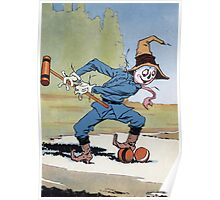 John R. Neill - The Scarecrow Swinging A Croquet Mallet. Child portrait: cute baby, kid, children, pretty angel, child, kids, lovely family, boys and girls, boy and girl, mom mum mammy mam, childhood Poster