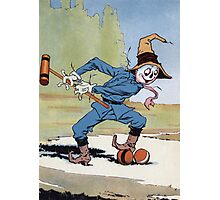 John R. Neill - The Scarecrow Swinging A Croquet Mallet. Child portrait: cute baby, kid, children, pretty angel, child, kids, lovely family, boys and girls, boy and girl, mom mum mammy mam, childhood Photographic Print
