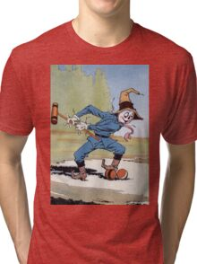 John R. Neill - The Scarecrow Swinging A Croquet Mallet. Child portrait: cute baby, kid, children, pretty angel, child, kids, lovely family, boys and girls, boy and girl, mom mum mammy mam, childhood Tri-blend T-Shirt