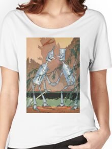 John R. Neill - The Tin Woodman And His Twin. Child portrait: cute baby, kid, children, pretty angel, child, kids, lovely family, boys and girls, boy and girl, mom mum mammy mam, childhood Women's Relaxed Fit T-Shirt