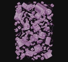 Retro Gamer - Pink Kids Tee