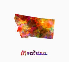 Montana US state in watercolor Unisex T-Shirt