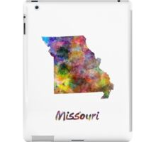 Missouri US state in watercolor iPad Case/Skin