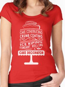 Cake Baking Women's Fitted Scoop T-Shirt