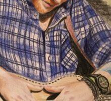 Ed Sheeran Pencil Sketch Sticker