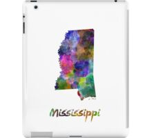 Mississippi US state in watercolor iPad Case/Skin