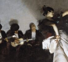 John Singer Sargent - El Jaleo1882. Dancer painting: dance, ballet, dancing woman, ballerina, tutu, femine, women, dancer, disco, dancers, girls Sticker