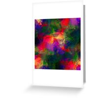 Retro Color Abstract Greeting Card