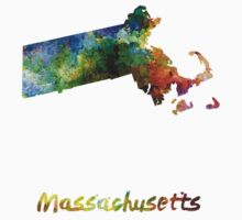 Massachusetts US state in watercolor Baby Tee
