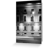 Facade and the lights Greeting Card