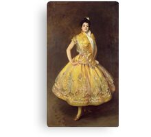 John Singer Sargent - La Carmencita. Dancer painting: dance, ballet, dancing woman, ballerina, tutu, femine, women, dancer, disco, dancers, girls Canvas Print