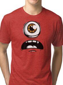 Orange Eyed Scared Monster Tri-blend T-Shirt