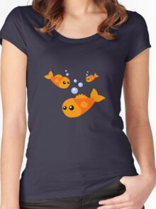 Cute Goldfish Women's Fitted Scoop T-Shirt
