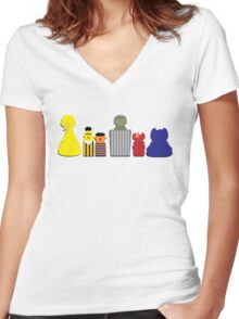 Sunny Day! Women's Fitted V-Neck T-Shirt