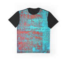 Red Flake Blue Graphic T-Shirt
