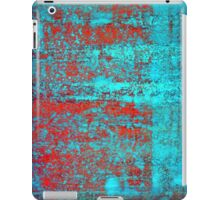Red Flake Blue iPad Case/Skin