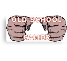 Old School Gamer Canvas Print