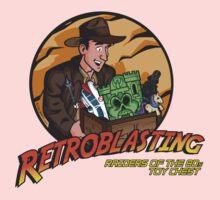 RetroBlasting Raiders of the 80s Toy Chest Kids Tee
