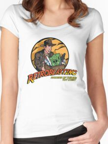RetroBlasting Raiders of the 80s Toy Chest Women's Fitted Scoop T-Shirt