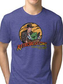 RetroBlasting Raiders of the 80s Toy Chest Tri-blend T-Shirt