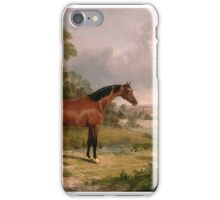 John Frederick Herring (Senior)  a horse and a soldier iPhone Case/Skin