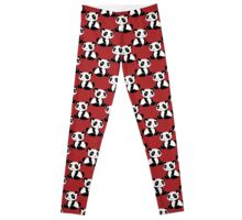 Red Panda Pattern Leggings