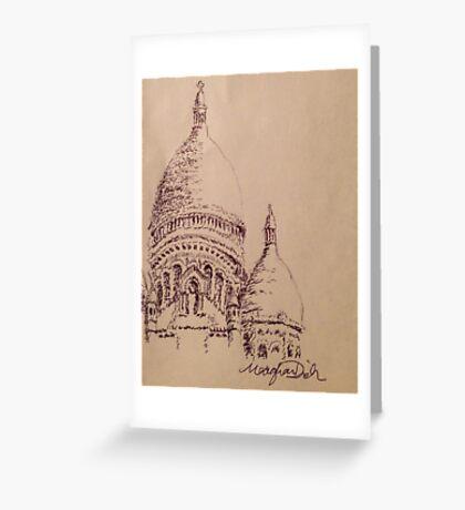 Sacré-Cœur Pen Sketch Greeting Card