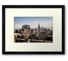 New York Lookout Framed Print