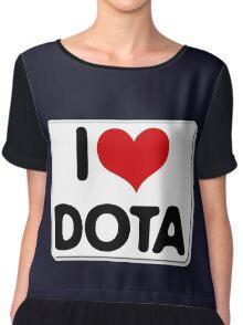 I love dota 2 shirts Chiffon Top