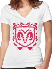 Ramblot (red) Women's Fitted V-Neck T-Shirt