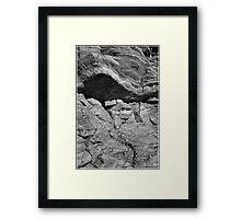 Bedrock Monochrome at Livermore Falls Framed Print
