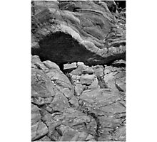 Bedrock Monochrome at Livermore Falls Photographic Print