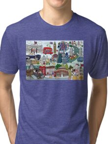 Queen's London Day Out Tri-blend T-Shirt