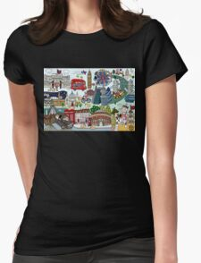 Queen's London Day Out Womens Fitted T-Shirt
