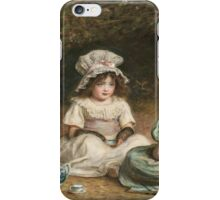 John Everett Millais - Afternoon Tea. Child portrait: cute baby, kid, children, pretty angel, child, kids, lovely family, boys and girls, boy and girl, mom mum mammy mam, childhood iPhone Case/Skin