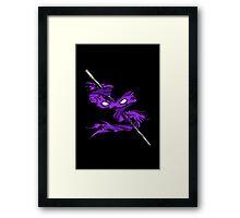 Violet Vengeance Framed Print