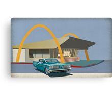Mcdonalds and pontiac 1963 Canvas Print