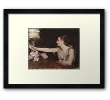 John Singer Sargent - Madame Gautreau Drinking A Toast. Woman portrait: sensual woman, girly art, female style, pretty women, femine, beautiful dress, cute, creativity, love, sexy lady Framed Print