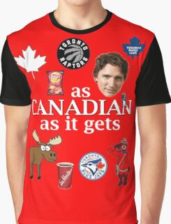As Canadian as it Gets Canada Day Item Graphic T-Shirt