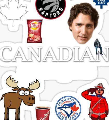 As Canadian as it Gets Canada Day Item Sticker