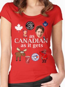 As Canadian as it Gets Canada Day Item Women's Fitted Scoop T-Shirt