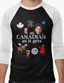 As Canadian as it Gets Canada Day Item Men's Baseball ¾ T-Shirt