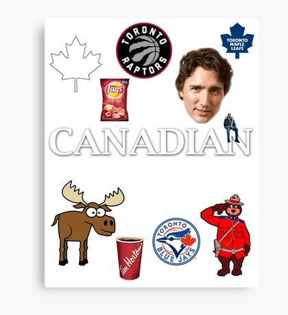 As Canadian as it Gets Canada Day Item Canvas Print