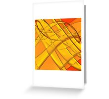 Retro Color Abstract III Greeting Card
