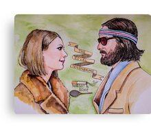Margot and Richie Royal Tenenbaums Watercolor Canvas Print