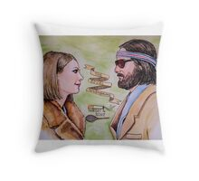 Margot and Richie Royal Tenenbaums Watercolor Throw Pillow