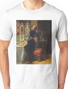 John Everett Millais - Mariana 1851. Woman portrait: sensual woman, girly art, female style, pretty women, femine, beautiful dress, cute, creativity, love, sexy lady, erotic pose Unisex T-Shirt