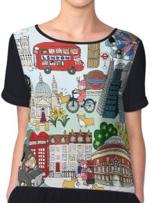 Queen's London Day Out Chiffon Top